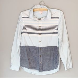 Cat and Jack button down shirt striped long sleeve